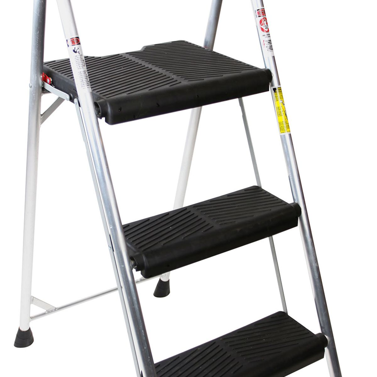 AL323-6 ...  sc 1 st  Werner Ladder & AL323-6 3-Step Type II Black and Silver Aluminum Step Stool islam-shia.org