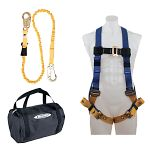 K122023 Aerial Kit with BaseWear Std Harness (Tongue Buckle Legs) and 6 ft SoftCoil Lanyard