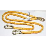 C451100 6 ft SoftCoil Twinleg Lanyard (Energy Absorbing Inner Core, Snaphook)