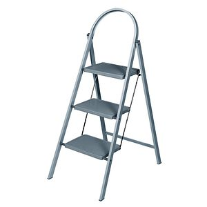 ABRU CHROME 2 STEP TREAD STEPSTOOL 22042