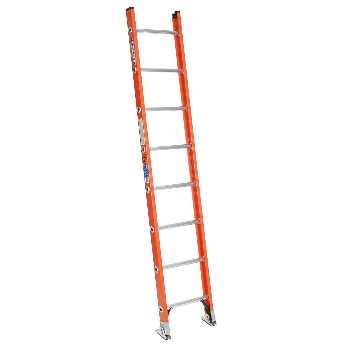 D6208 1 8 Ft Type Ia Fiberglass D Rung Straight Ladder