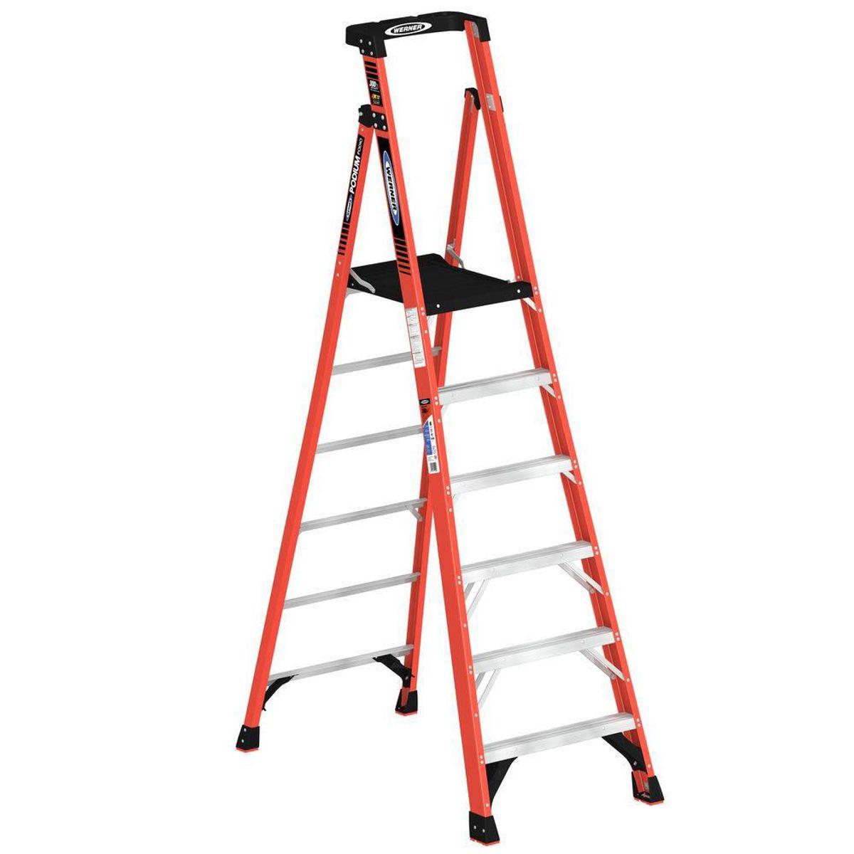 Phenomenal Pdia06 Step Ladders Werner Us Creativecarmelina Interior Chair Design Creativecarmelinacom