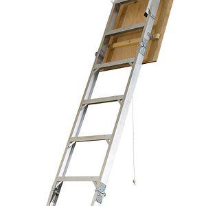 AH2510 25 In W X 54 In L X 8 Ft To 10 Ft H Ceiling Aluminum Attic Ladder