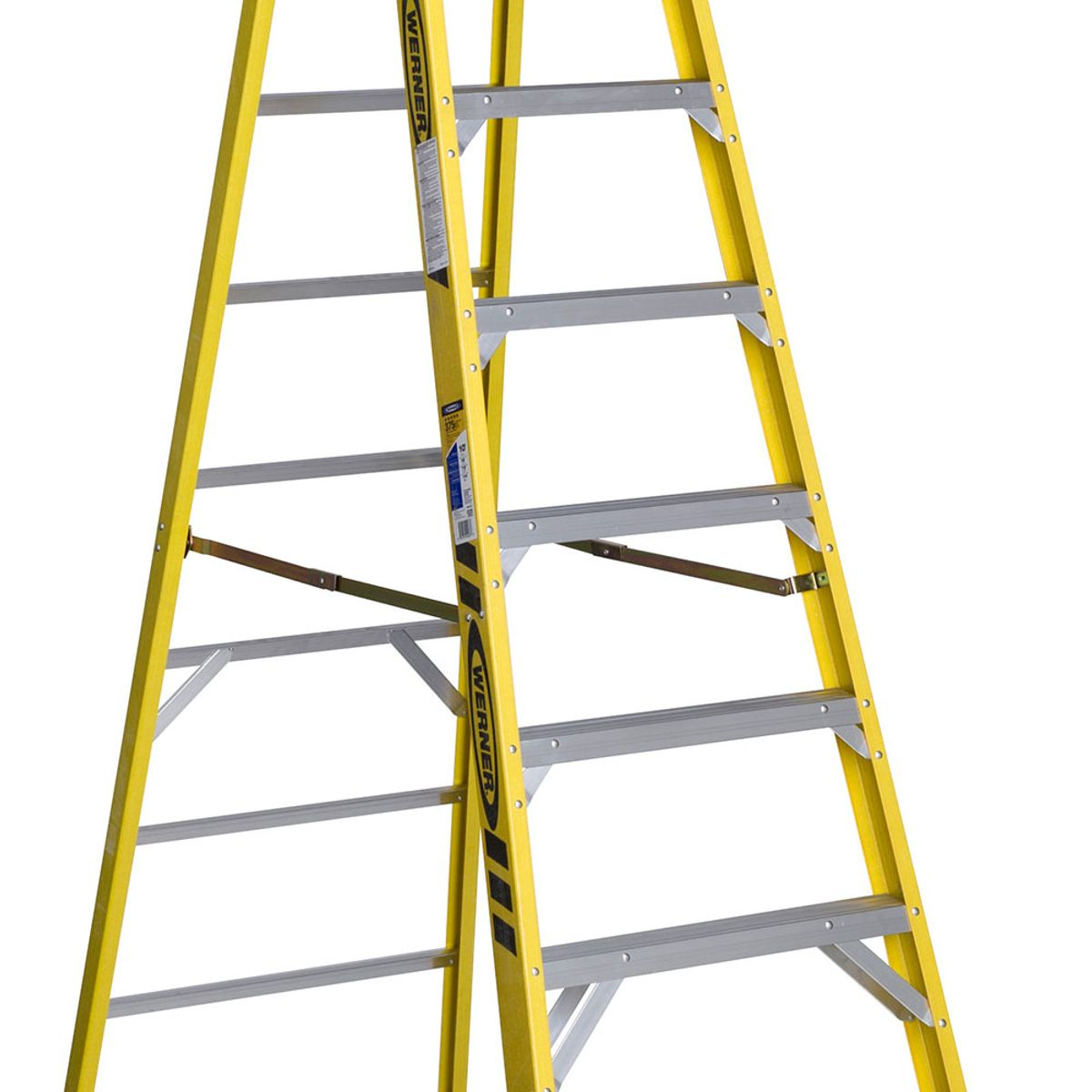 Werner Fiberglass Step Ladder Labels Bahuma Sticker