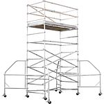 4202-12 Wide Span 12 ft H x 8 ft L Platform Scaffold Tower