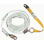 L242350CA Werner 50 ft  Poly-dac Vertical Lifeline w/Lanyard, 5/8 in diameter