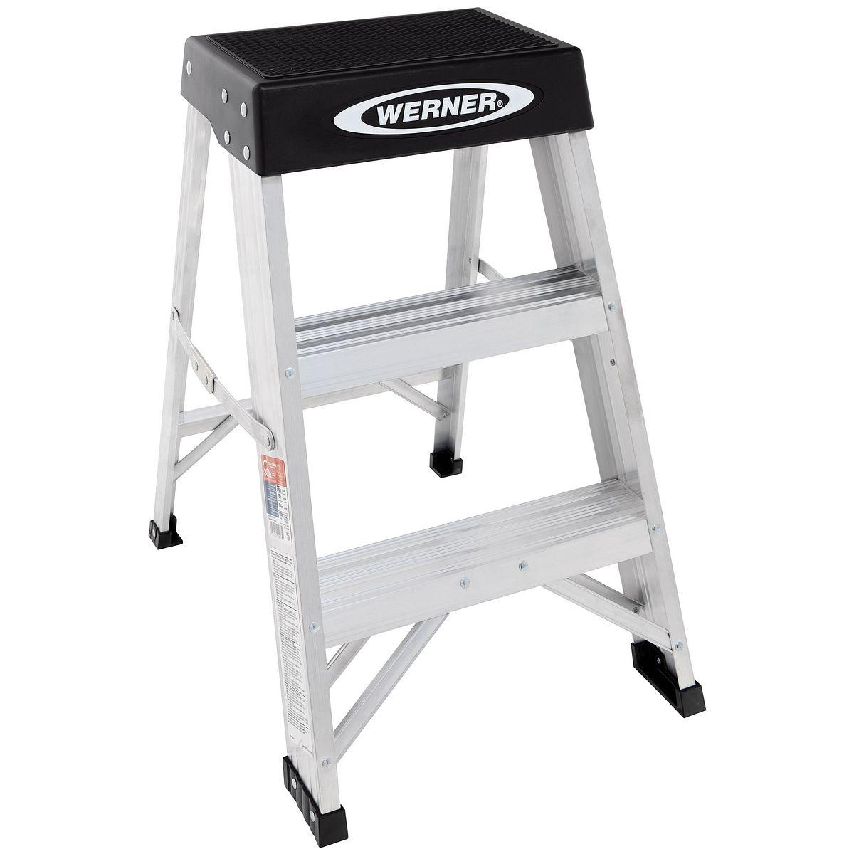 150b series escaleras de tijera werner us for Escalera aluminio pequena