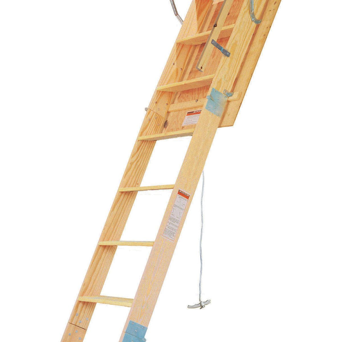 WH3008 30.5in W X 54in L X 8ft H Ceiling Heavy Duty Wood Attic Ladder