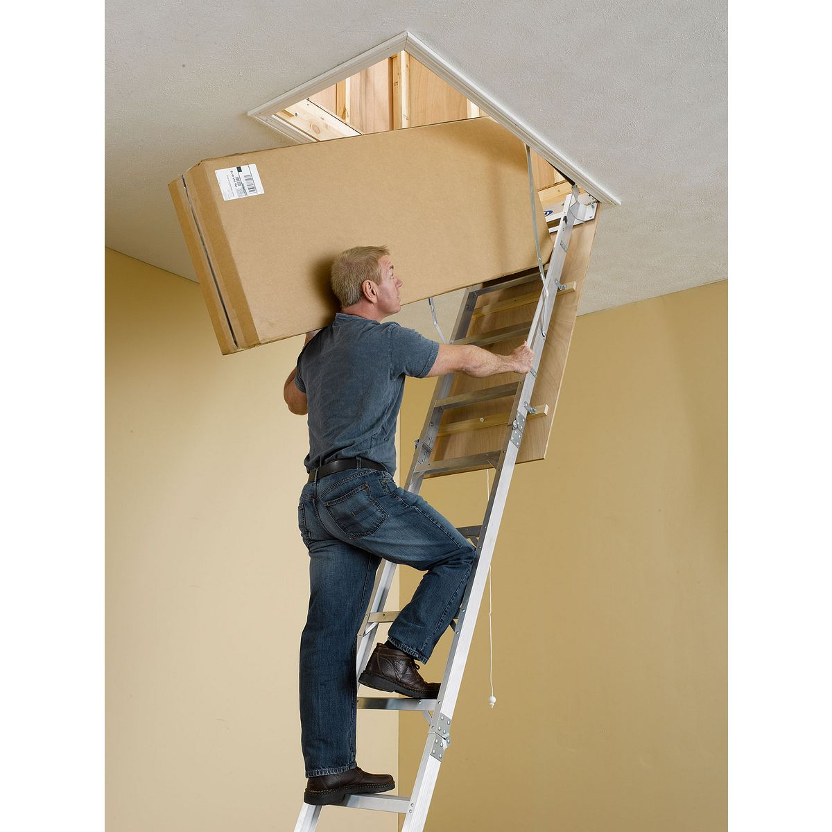 Ah2512 attic ladders werner us - Escaleras de techo plegables ...