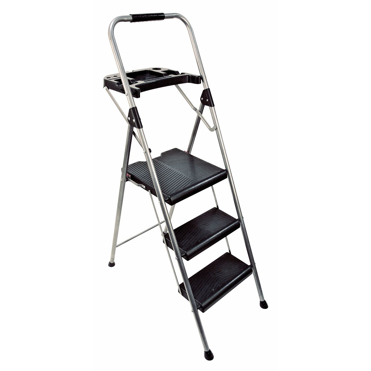 S323p 2 3 Step Type Ii Black Silver Steel Project Step Stool