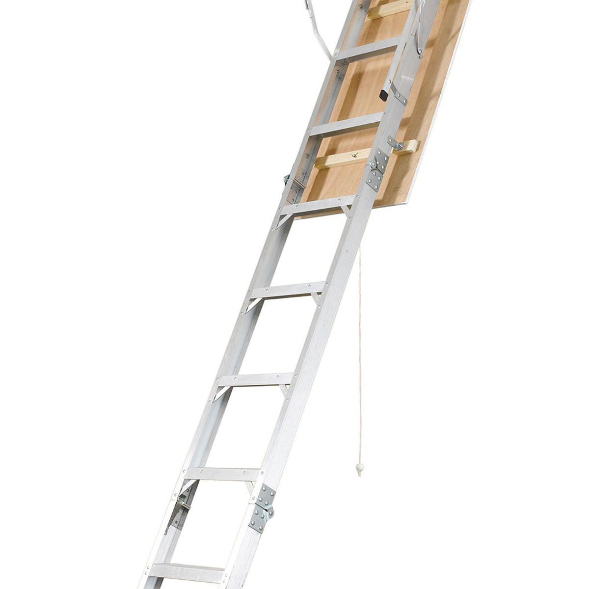 AH2210 22.5in W X 54in L X 8ft To 10ft H Ceiling Aluminum Attic Ladder