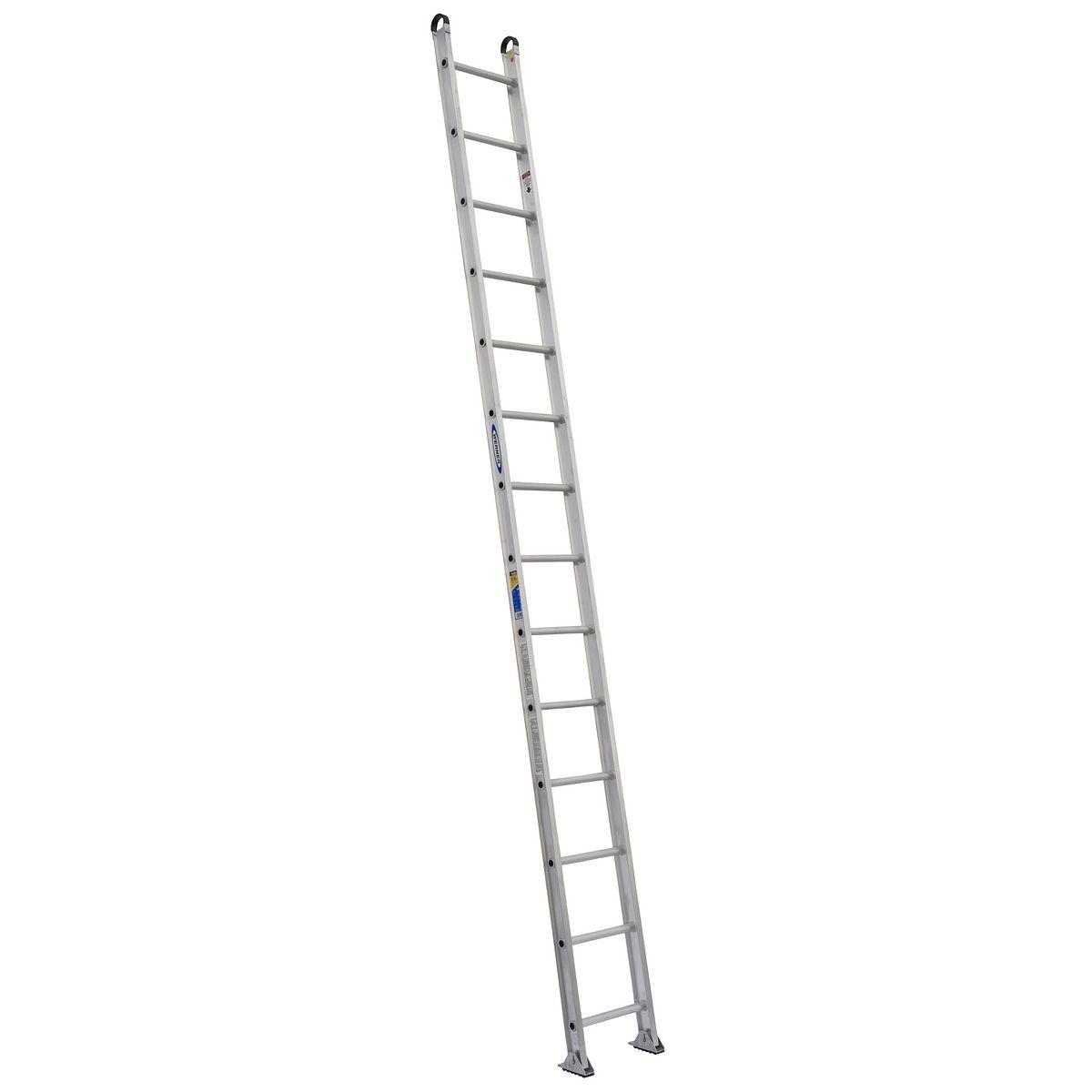 514 1 extension ladders werner us for Escalera de aluminio de 3 metros