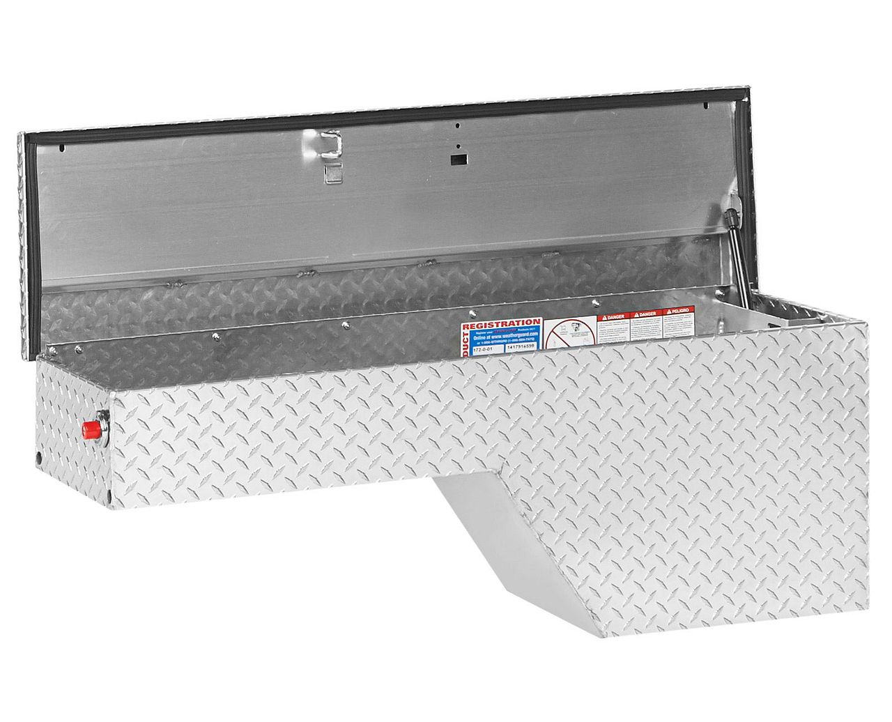 Weather Guard 172-0-01 Pork Chop Box, Aluminum, Driver Side
