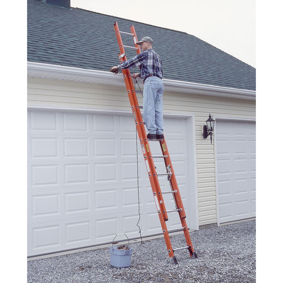 D6228 2 28 Ft Type Ia Fiberglass D Rung Extension Ladder