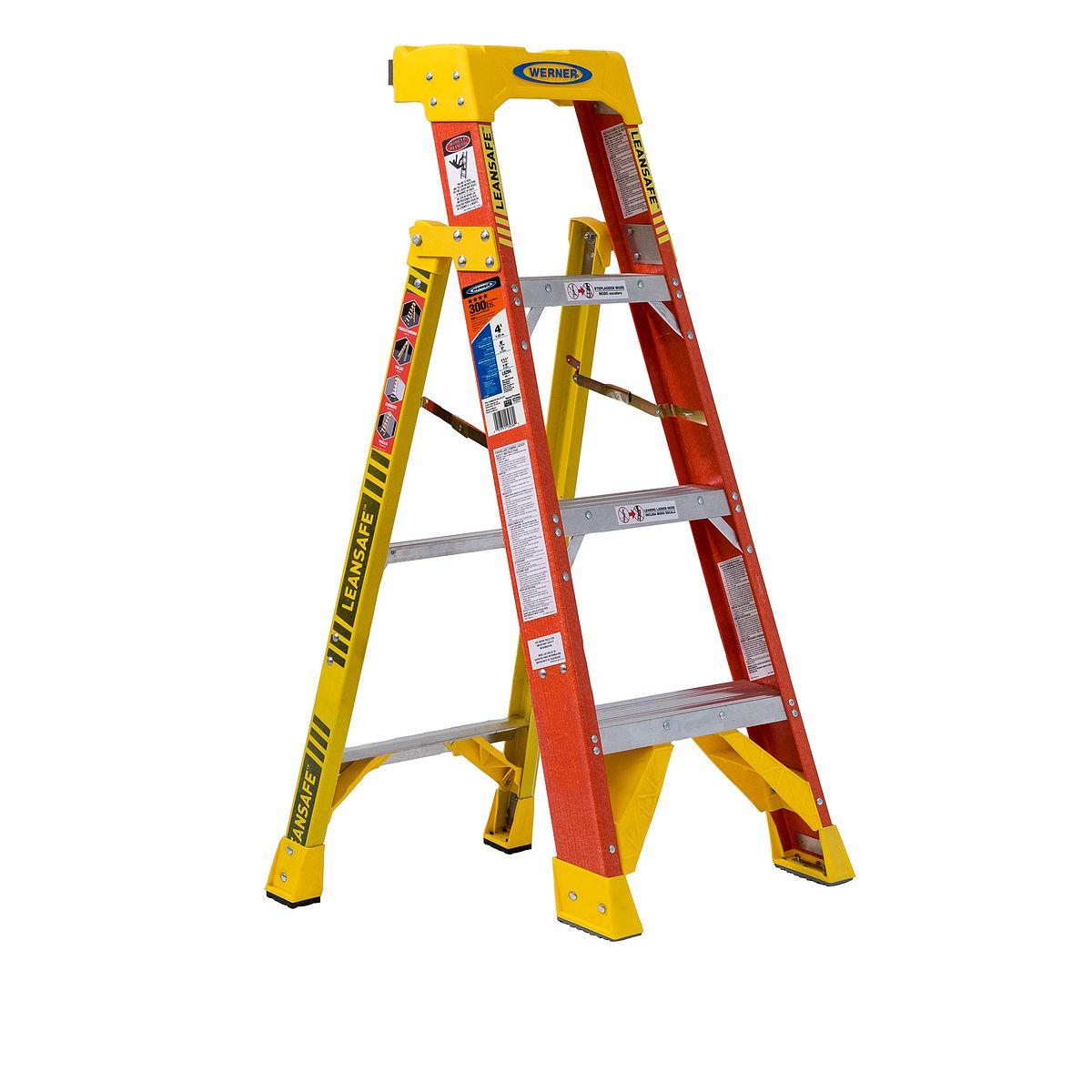 L6204 4 Ft Type Ia Fiberglass Leaning Ladder