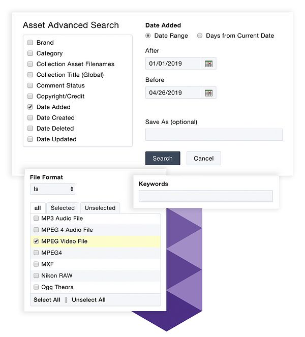 Advanced searching and keyword search