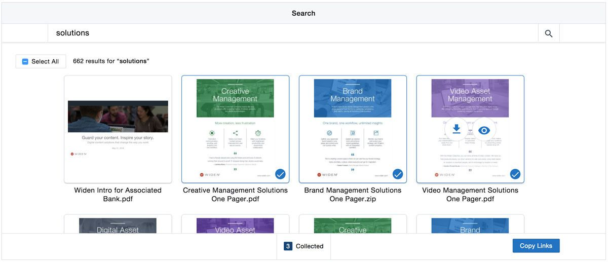 Widen Instant Search Connector within Salesforce