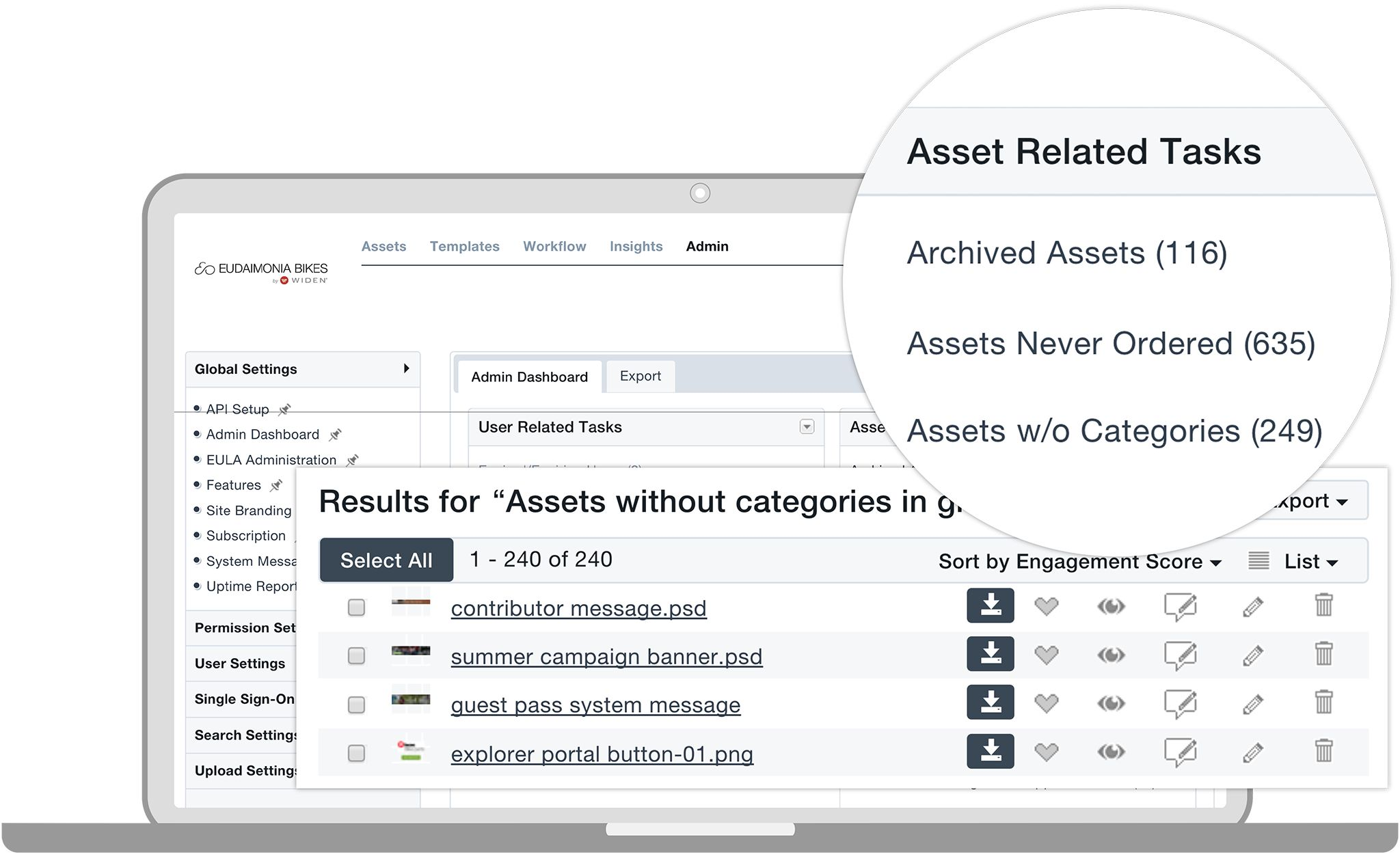 Digital Asset Management Software Admin Dashboard