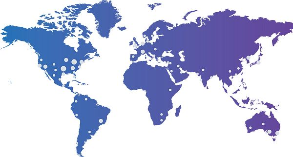 Collective User Map Blue Purple Gradient