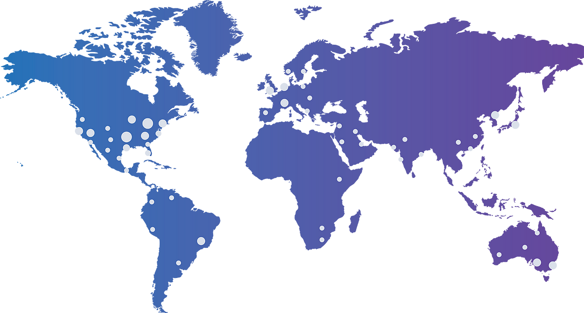 Widen customers locations map