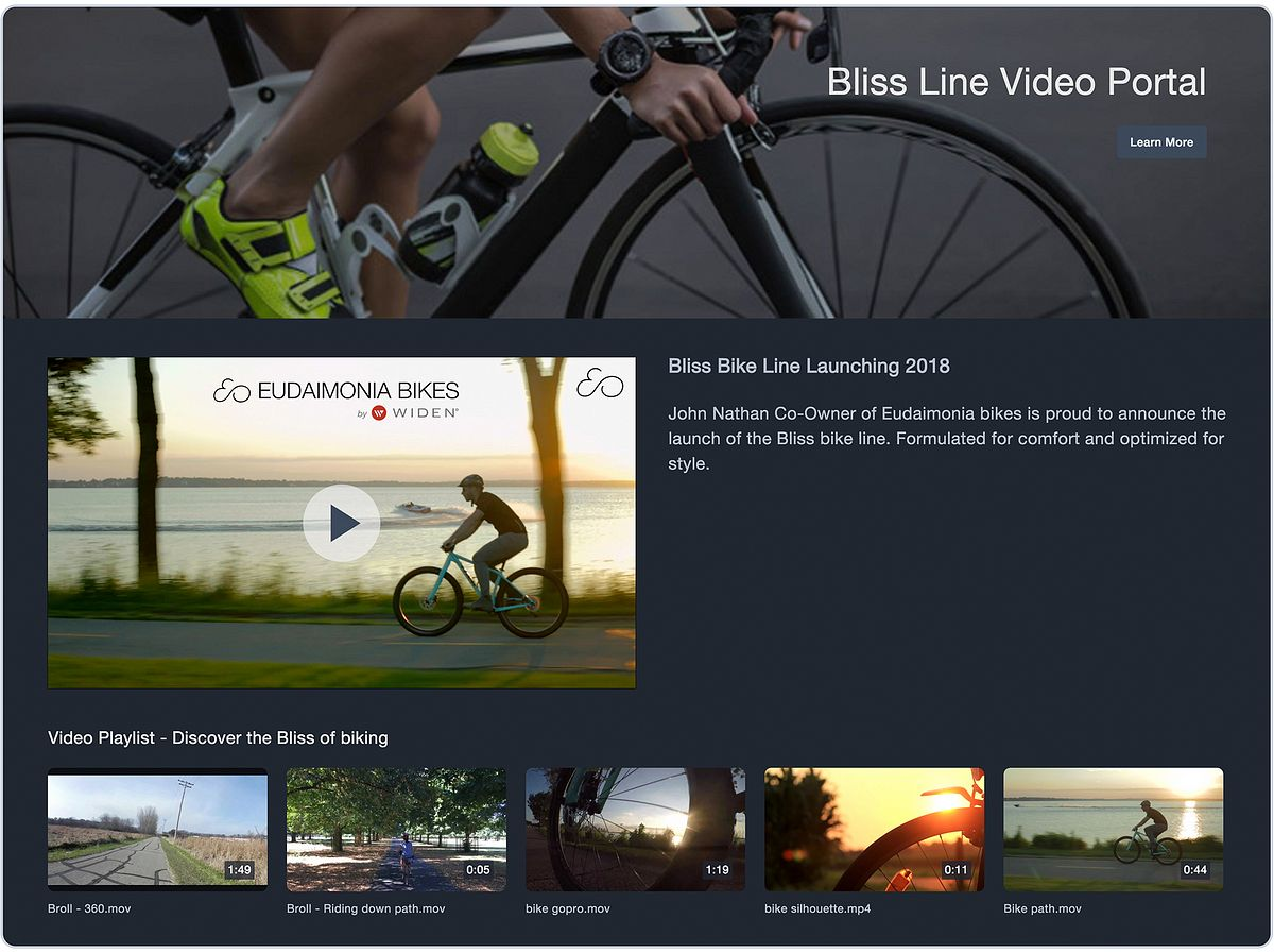 Video Content Management Branded Video Playlists