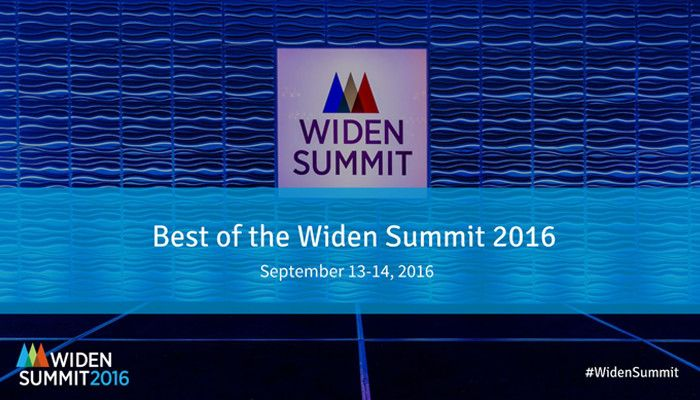 The Best of the Widen Summit 2016