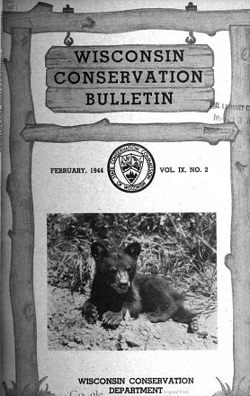 1941 Conservation Bulletin cover with bear cub