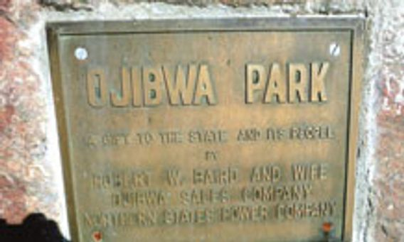 sign at Ojibwa Park