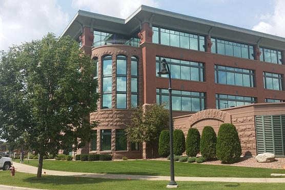 An urban office building