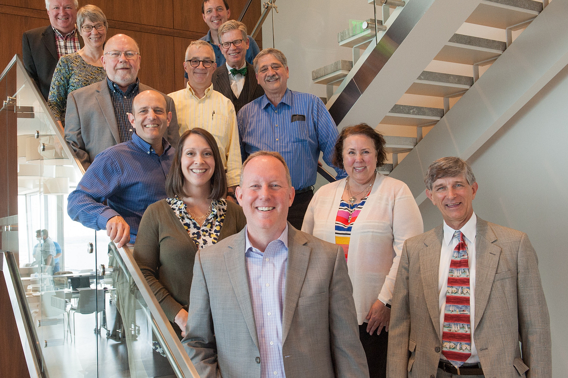 The Brownfields Study Group standing on steps