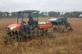 machinery working in field