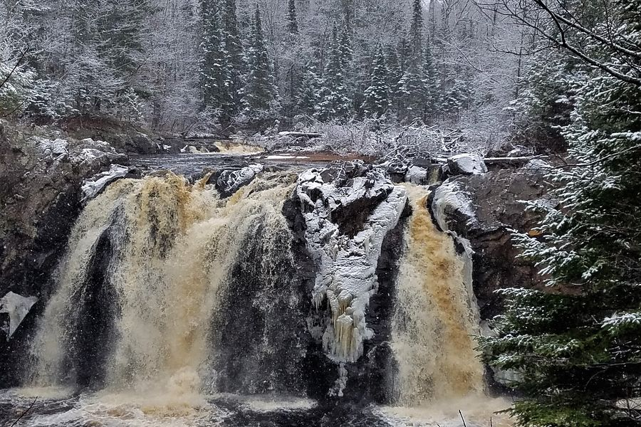 Little Manitou Falls, Pattison State Park - Photo credit: DNR