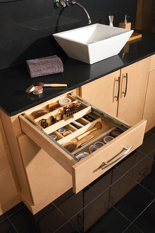 Wood Tiered Cutlery Divider