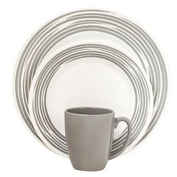 Boutique™ Brushed 16-pc Dinnerware Set  Silver