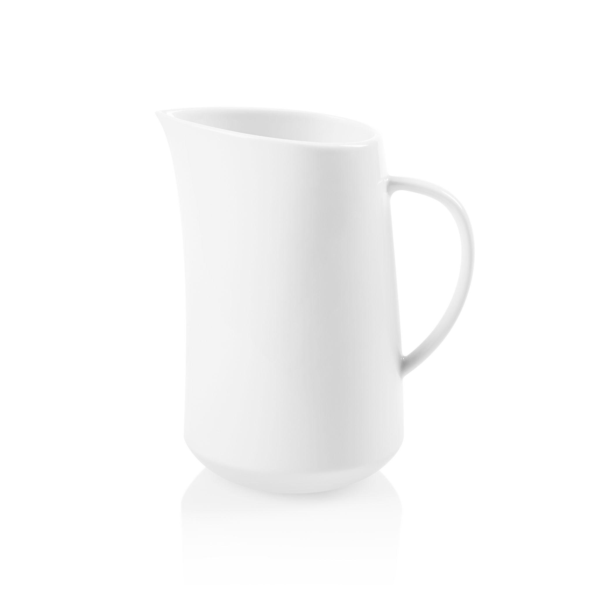 Winter Frost White 1.5-quart Porcelain Medium Pitcher