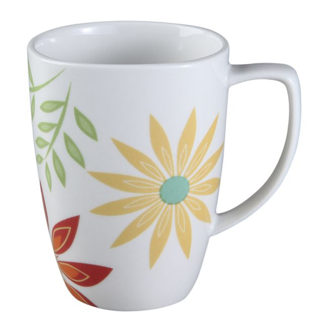 Square Happy Days 12-oz Porcelain Mug
