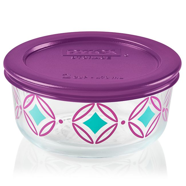 Simply Store 2 Cup Diamonds Storage Dish w/ Lid