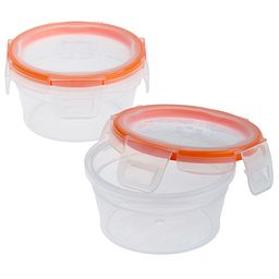 Total Solution™ Plastic Food Storage 2 Pack  Round