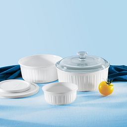 French White® 6-pc Bakeware Set on table