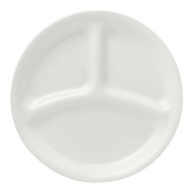 "Winter Frost White 8.5"" Divided Salad Plate"