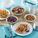 Winter Frost White 10-piece Dinnerware Set, Service for 4