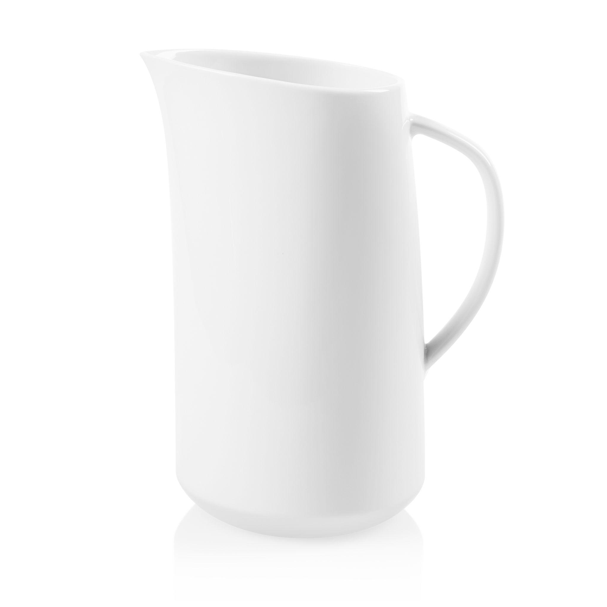 Winter Frost White 2.5-quart Porcelain Large Pitcher
