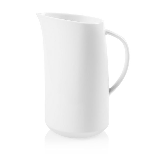 Winter Frost White 2.5-quart Porcelain Large Pitcher