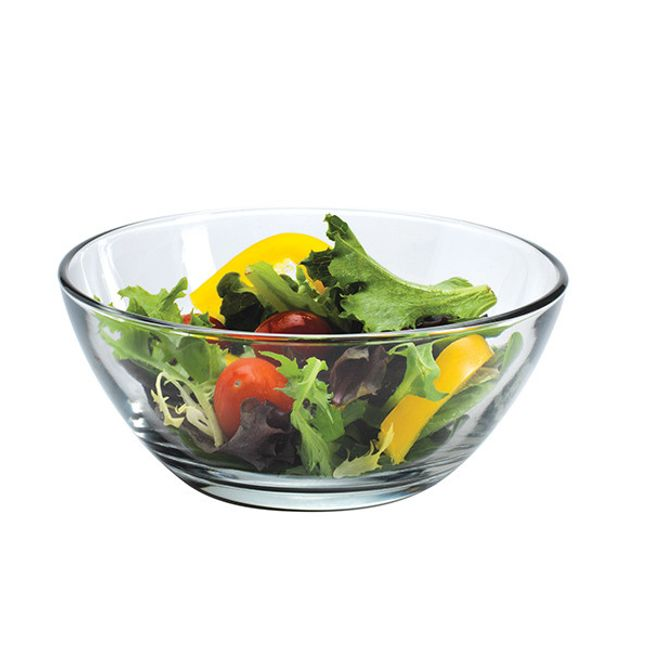 Presence 16-ounce Glass Shallow Bowl