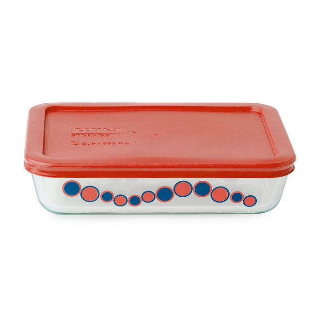 Simply Store 3 Cup Bubblegum Cirque Rectangle Storage Dish w/ Lid