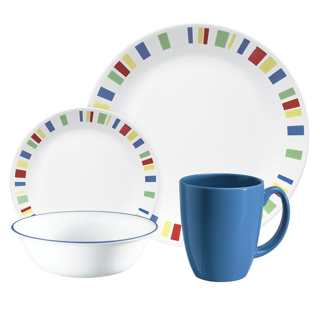 Memphis 16-piece Dinnerware Set, Service for 4