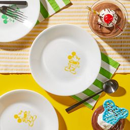 "6.75"" Appetizer Plate: Mickey Mouse™ - Standing on the table with desserts"