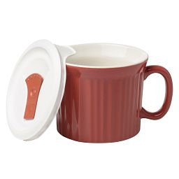Colours® Pop-Ins® Red Clay 20-oz Mug with Vented Lid