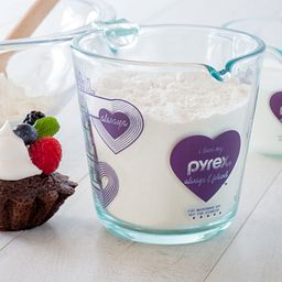Love 2 Cup Purple Measuring Cup with Flour Inside