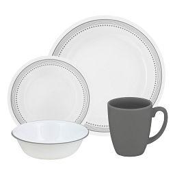 Mystic Gray 16-pc Dinnerware Set